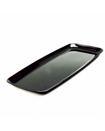 Vassoi Neri Rettangolari 22x56 cm 5 pz in Plastica Dampe