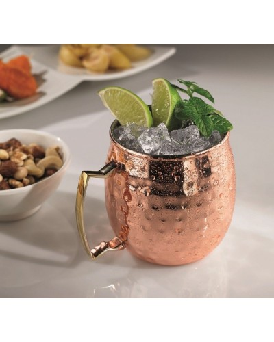 Mug Boccale in Rame Martellato 59 Cl per Cocktail tipo Moscow Mule
