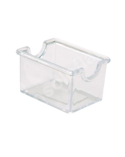 Porta bustine zucchero trasparente 8x5x5 cm
