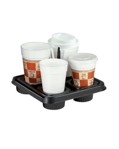 Vassoio Tray Cups 4 Nero per Bicchiere D'asporto 100 pz Erremme