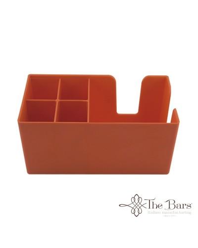 Dispenser da Banco Porta Tovaglioli e Cannucce Arancione