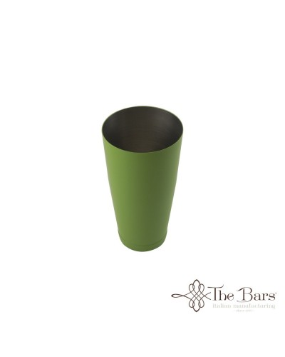 SHAKER TIN BOSTON BILANCIATO VERDE ACCIAIO 28 oz BARMAN THE BARS