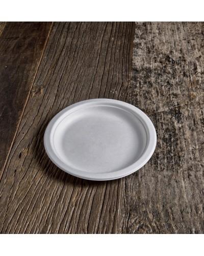 Piatto Piano Polpa di Cellulosa da 17 cm 50 pz