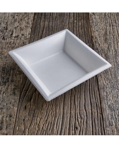 Piatto Fondo Quadrato Polpa di Cellulosa 20x20 cm 50 pz