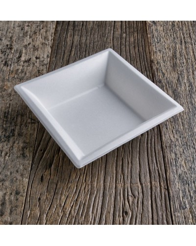 Square Plate Cellulose pulp 20x20 cm 50 pcs