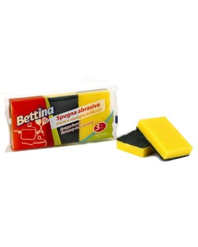 Spugna piatti abrasiva Bettina 3 pz professionale Arix