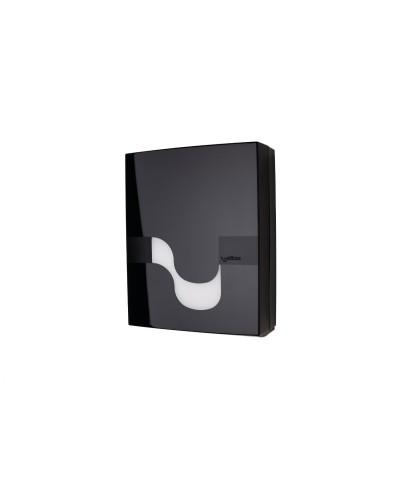 Dispenser asciugamani piegati a V o C nero Megamini Celtex