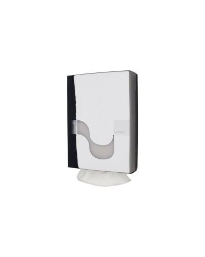 Dispenser asciugamani carta piegati a Z cromato Megamini Celtex