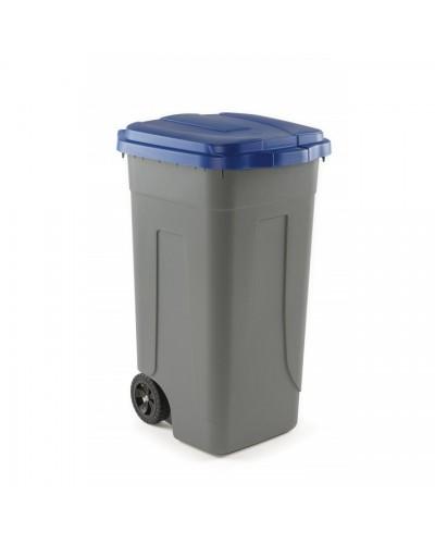 Bidone Spazzatura Carrellato Cento 100 lt colorato Mobil Plastic