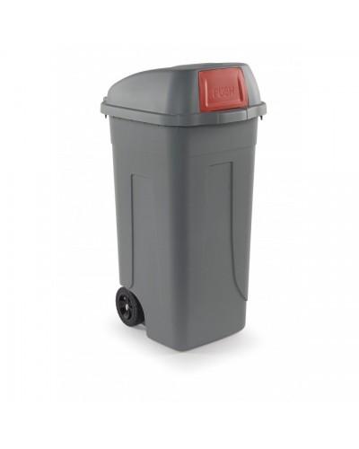 Bidone Spazzatura Carrellato Cento Push 100 lt rosso Mobil Plastic