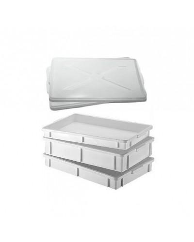Cassetta Transport Sovrapponibile 60x40x11 cm Giganplast per impasto pizza