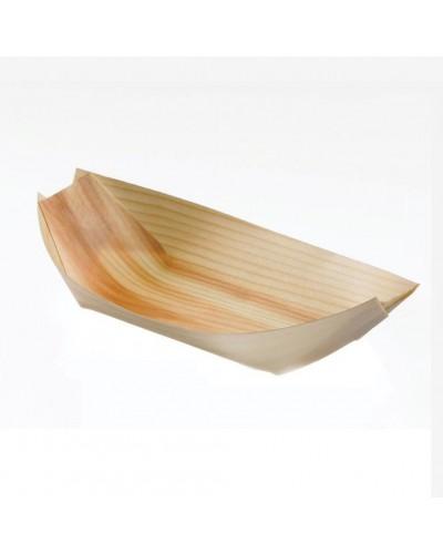 Pirogues Wood 12x7x2 cm 50 pcs