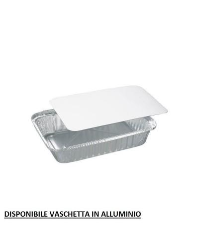 COPERCHI PER VASCHETTE ALLUMINIO MONOUSO 3 PORZIONI LARGE 100 pz CARTONE