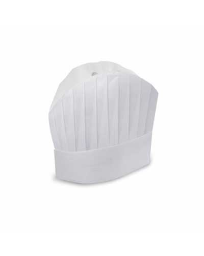 Cappello Cuoco Carta 20 cm 20 pz Monoutile