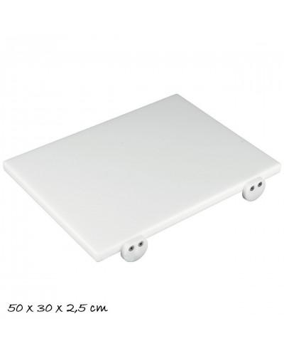 Tagliere Bianco 50x30x2,5 cm con Fermi