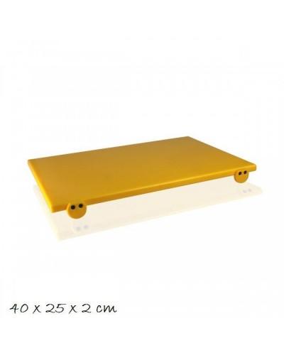 Tagliere Giallo 40x25x2 cm con Fermi