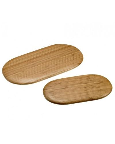 Tagliere Piatto Ovale in Bamboo Naturale 21x40 cm Leone