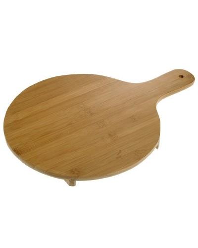 Tagliere Tondo in legno di Bamboo 29 cm con manico Leone
