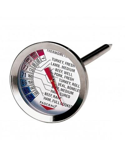 TERMOMETRO ARROSTO INOX PADERNO +54/+58°C - cucina cottura temperatura