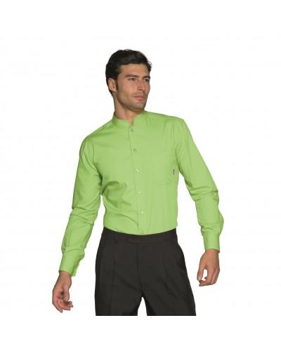 Camicia Unisex Dublino Verde Mela a manica lunga Isacco