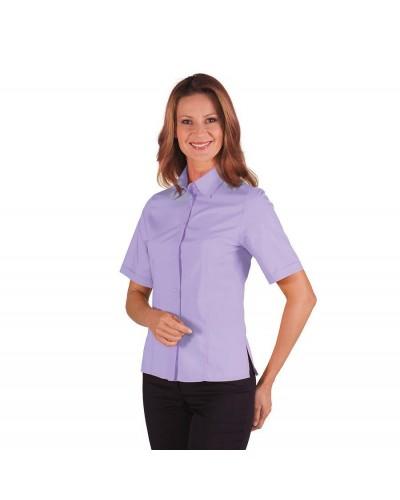 Camicia Donna Kyoto Lilla a manica corta Isacco