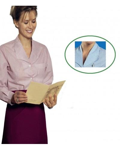 Camicia Donna Firenze a Righe Azzurra a manica lunga Isacco