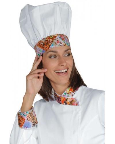 Cappello Cuoco Bianco Delicious Regolabile in cotone Isacco
