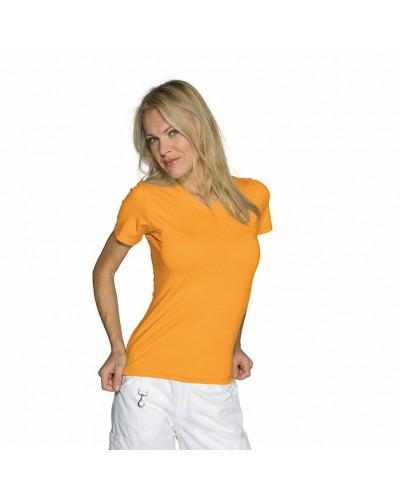 Maglietta donna Stretch Arancione in cotone a manica corta Isacco