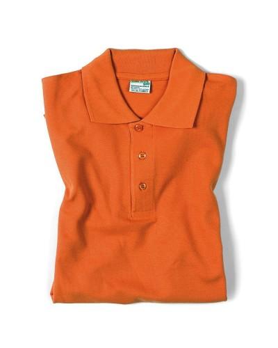 Polo Unisex Arancione manica corta in cotone Isacco