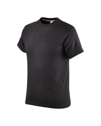 Maglietta uomo girocollo Nera 150 gr in Cotone Neri
