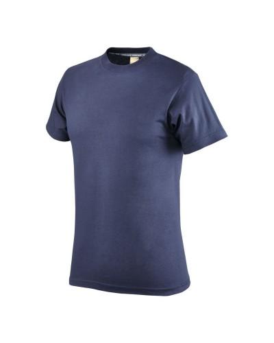 Maglietta Uomo girocollo Blu 150 gr in Cotone a manica corta Neri