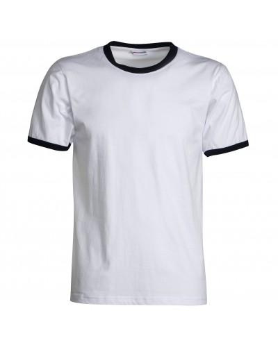 Maglietta Uomo Contrast Bianca in Cotone a manica corta Payper