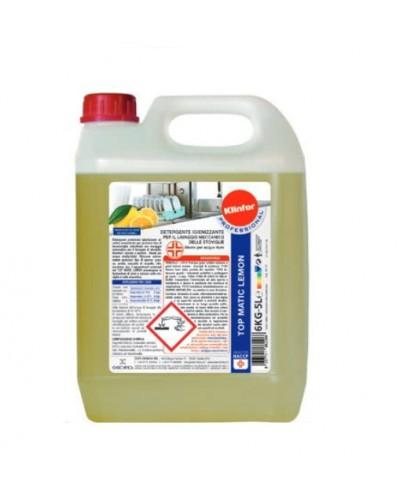 Top Matic Limone 6 Kg Detergente Professionale Lavastoviglie Acque Dure