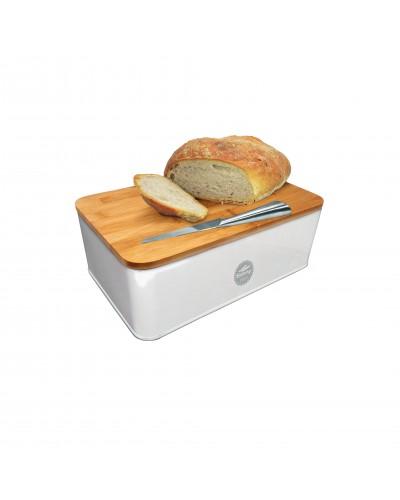Porta Pane Bianco con vassoio Nerthus
