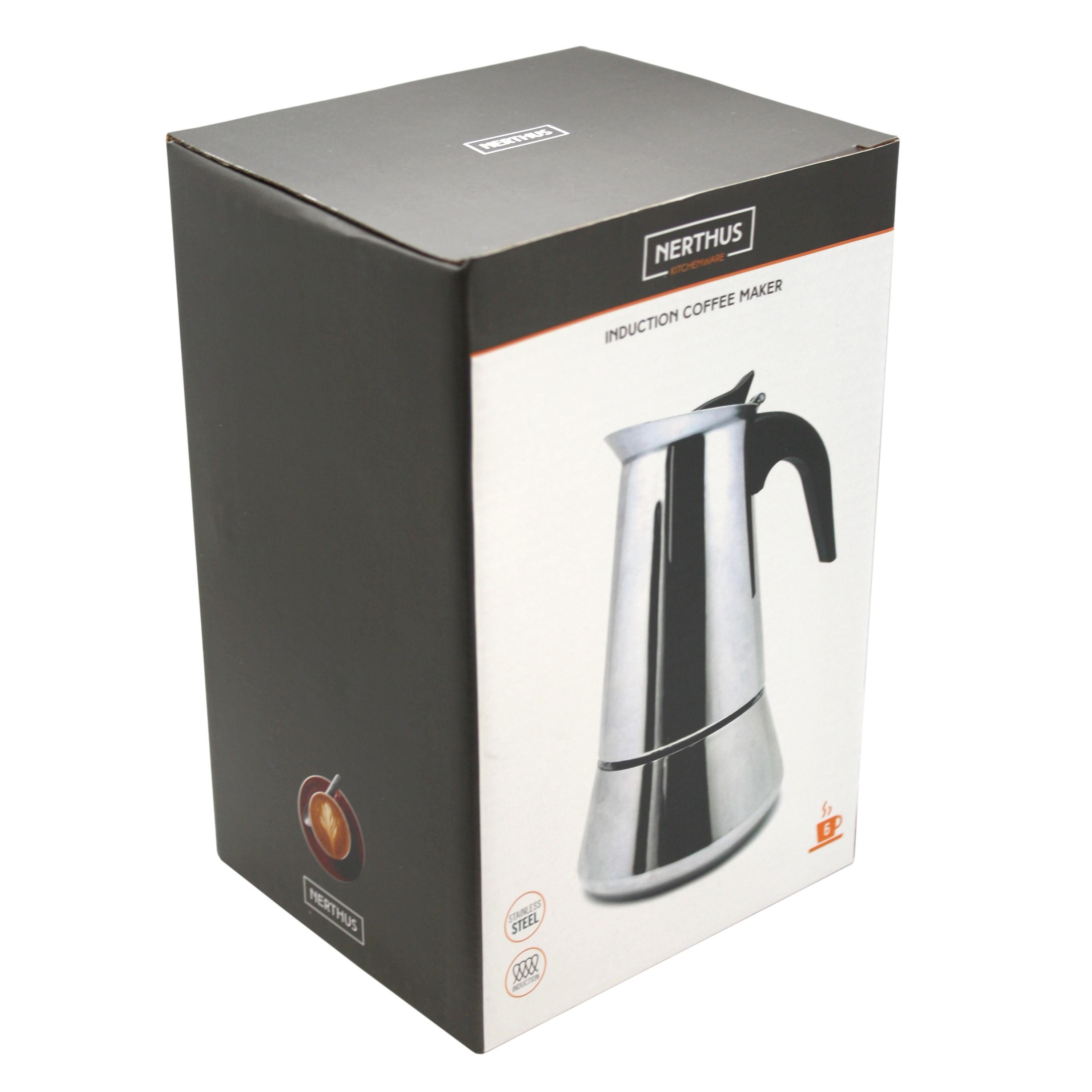 Piastre A Induzione Costi details about caffettiera induzione 6 tazze nerthus moka caffe per piastra  elettrica