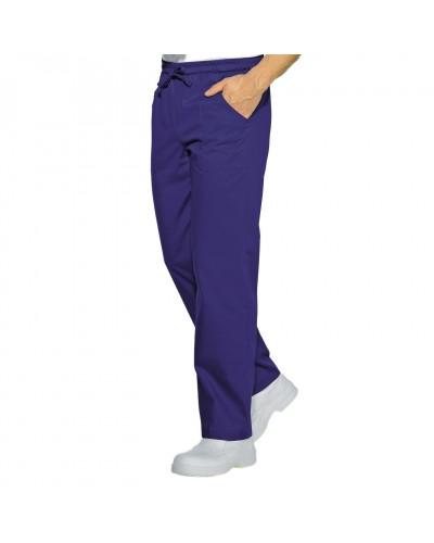Pantalone con elastico Blu Cina