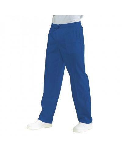 Pantalone con elastico Blu Isacco