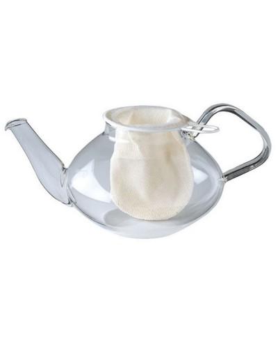 Filtro The in Cotone Cm 9 - Filtro da tè per Teiera Eva Collection