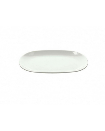 Vassoio Melamina Ovale Bianco 27x18 cm Tognana