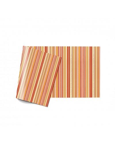 Tovaglia Linea Traccia Traccia Orange 100x100 cm 20 cm Infibra