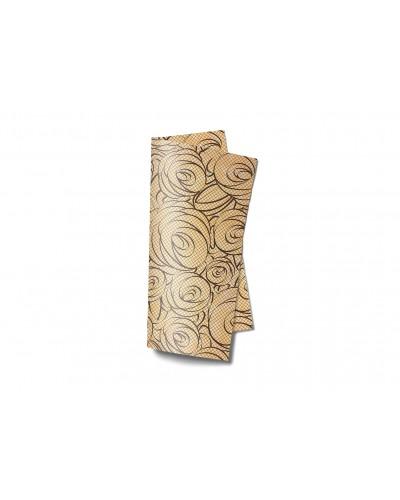 Tovagliolo Linea Trend Bouquet Cacao 38x38 cm 40 pz Infibra