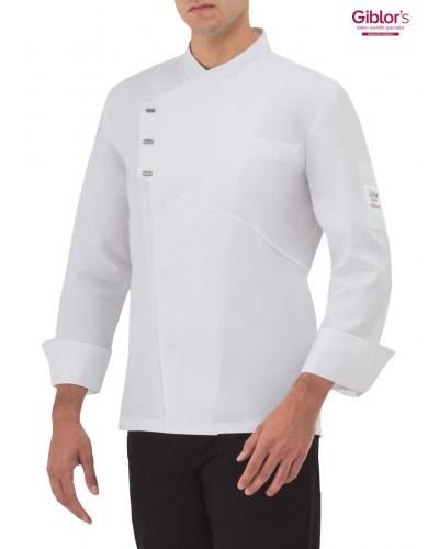 Giacca Cuoco Emmanuel Bianca manica lunga Giblor's