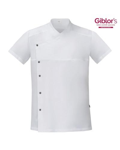 Giacca Cuoco Lapo Bianca manica corta Giblor's