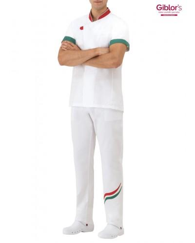 Pantalone Cuoco Alan Bianco Onda Giblor's