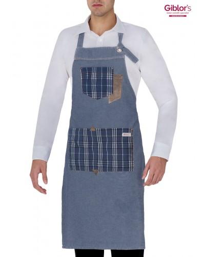 Grembiule Cameriere Bristol Blu Jeans Giblor's