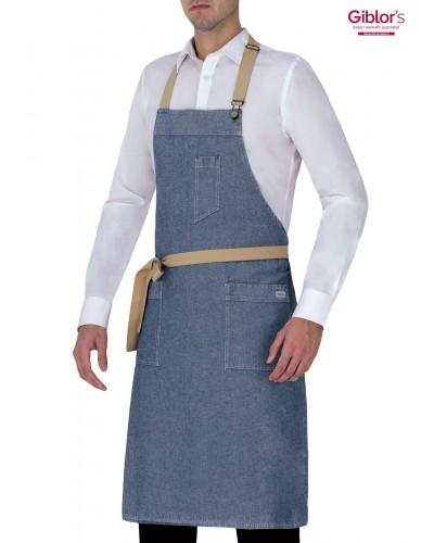 Grembiule Cameriere Cambridge Blu Jeans Giblor's