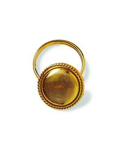 Bottone con anellino Dorato