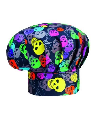 Cappello Cuoco Skull nero con teschi Egochef