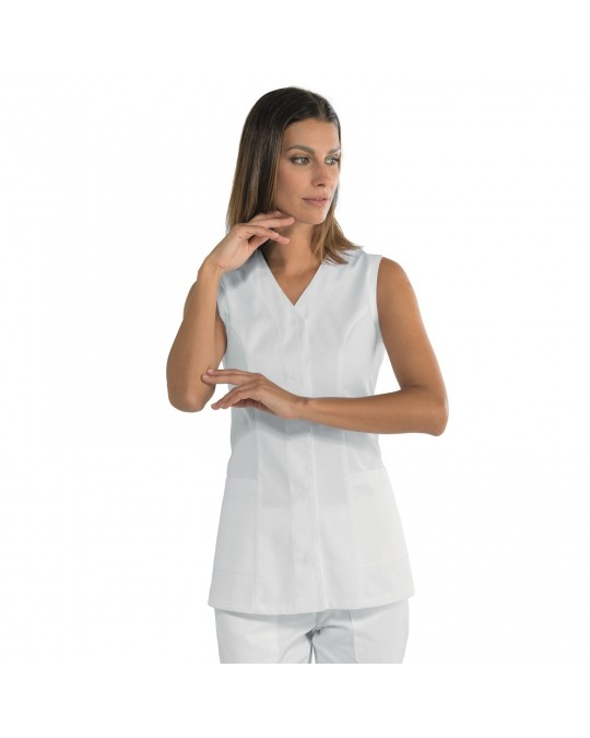 cheap for discount 21816 fc1f4 Casacca Donna Bahia Bianca smanicata Isacco