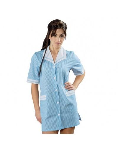 Casacca Donna Toledo Azzurra con righe a manica corta Isacco